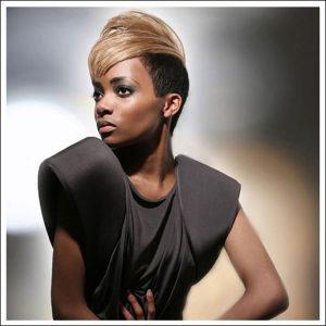 short blonde afro hair, junior green afro hair specialist salon, kensington