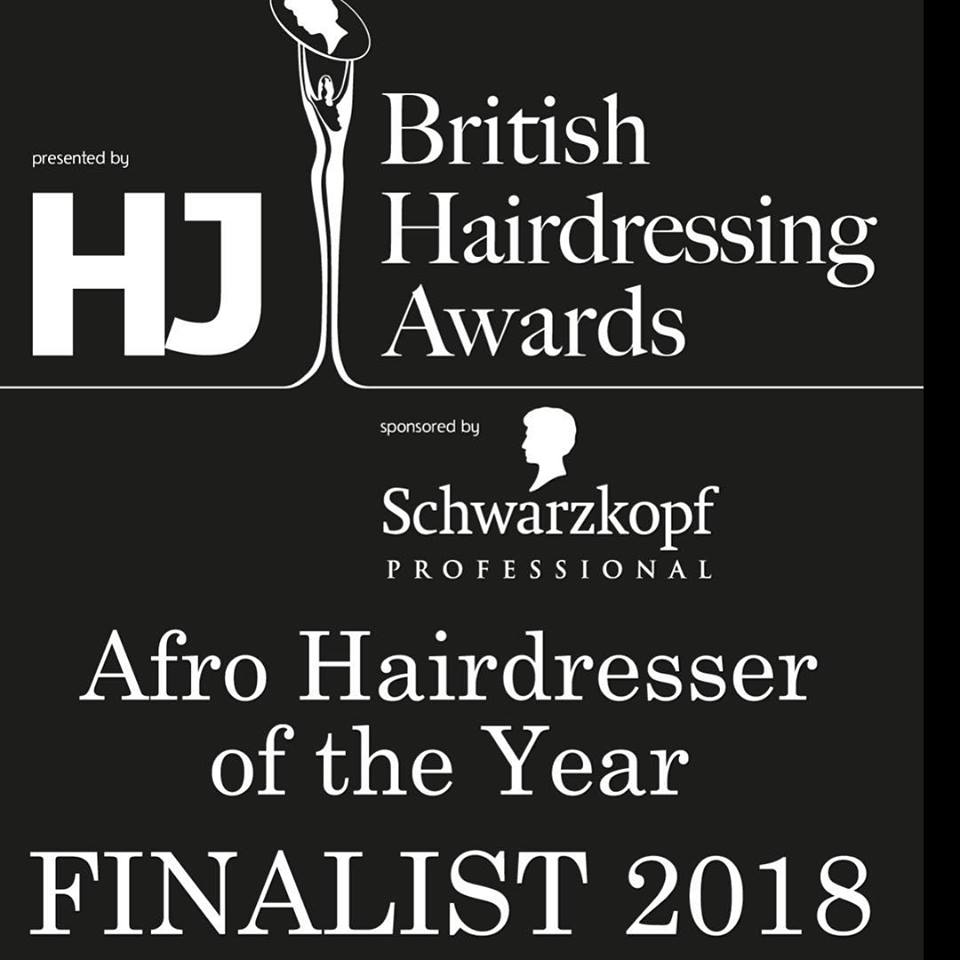 AFRO HAIRDRESSER OF THE YEAR FINALIST 2018, Junior Green in Kensington