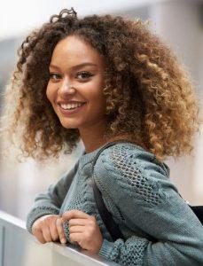 balayage for afro hair, black women hair colour, junior green hair salon, kensington